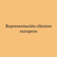 Representación clientes europeos